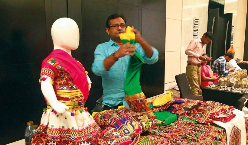 Indian handicrafts displayed in capital