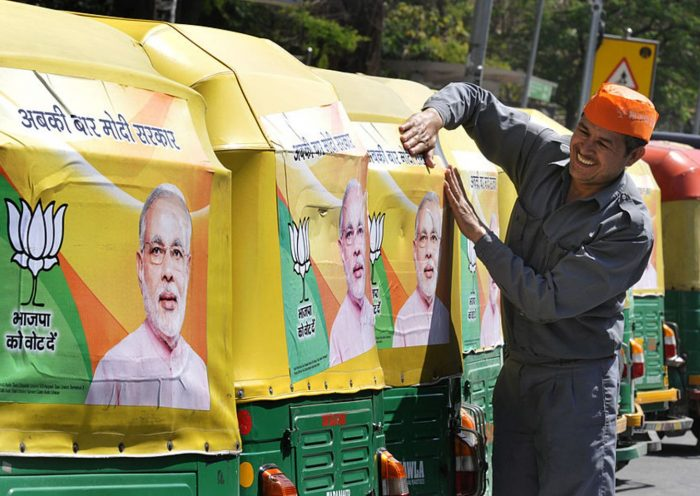 Meet the man behind Narendra Modi's first Indian election slogan — the one that was borrowed by Trump